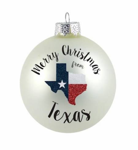 Merry Christmas from Texas Ornament MAIN