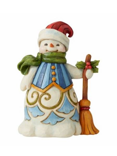 Snowman with Broom - Pint Sized LARGE