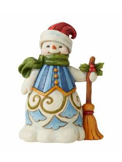 Snowman with Broom - Pint Sized THUMBNAIL