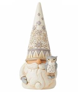 Woodland Gnome with Owl THUMBNAIL
