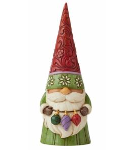 Christmas Gnome Holding Ornaments THUMBNAIL