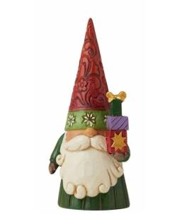 Christmas Gnome Holding Gifts THUMBNAIL