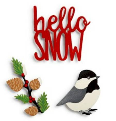 Hello Snow Magnet Set