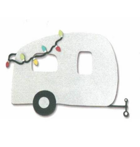 Airstream with Christmas Lights Magnet