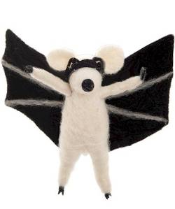 Wool Mouse with Bat Wings and Mask THUMBNAIL