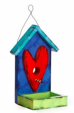 Red Heart Birdhouse Feeder THUMBNAIL
