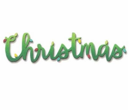 Christmas with Lights word magnet