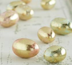 Gilded Antiqued Eggs