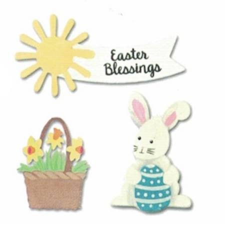 Easter Blessings Bunny with Egg Magnets