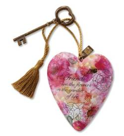 Heart Sculpture with Floral Design and message of Friendship_THUMBNAIL