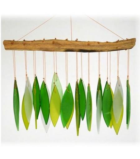 Spring Leaves Driftwood Chime