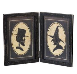 Picture frame with Skeleton and Witch THUMBNAIL