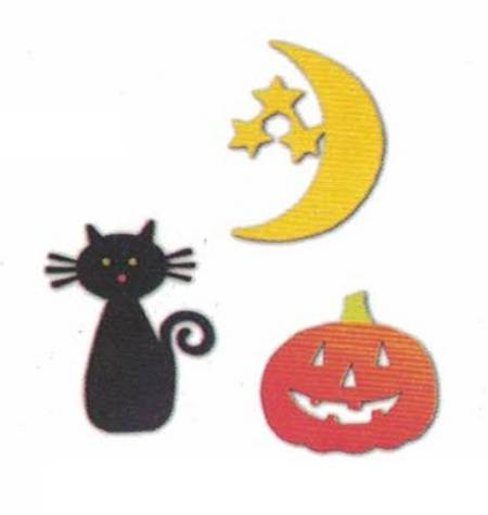 Halloween Moon Magnets LARGE
