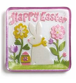 Happy Easter Bunny Plate THUMBNAIL