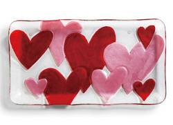 Hearts Rectangle Platter