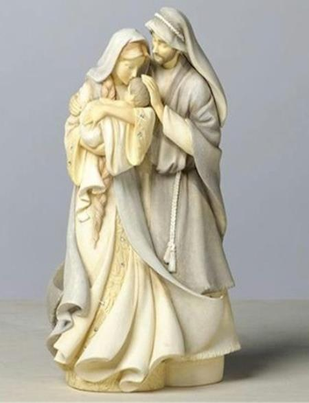 Jesus, Mary and Joseph Holy Family Collectible Figure. LARGE