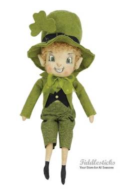 Leprechaun Boy with Shamrock St. Patricks Day Doll