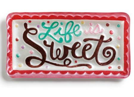 Life is Sweet Rectangle Platter MAIN