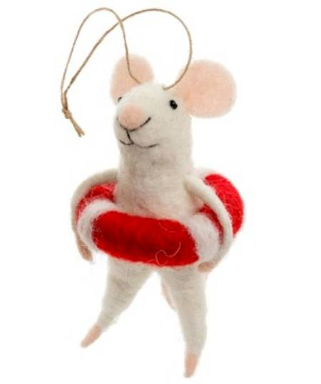 Mouse with Lifesaver ornament