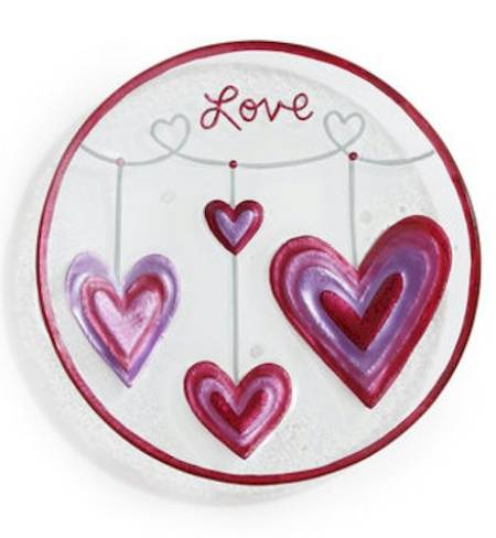 Hearts Round Plate