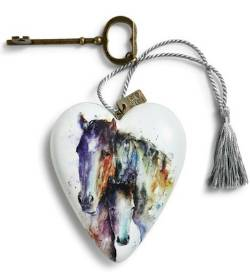 Heart decor with Horses