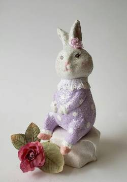 Molly Glittered Easter Rabbit Figure THUMBNAIL