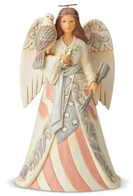 Angel Figure with an Eagle and Patriotic Flag Dress LARGE
