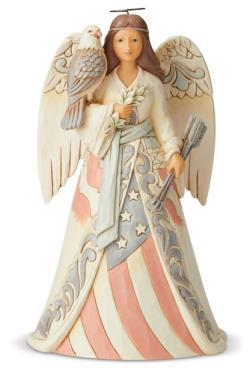 Angel Figure with an Eagle and Patriotic Flag Dress THUMBNAIL