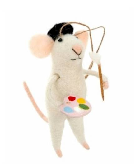 Artist Mouse with pallette Figure