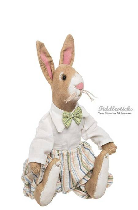 Pryce Rabbit Boy Doll with Flowers LARGE