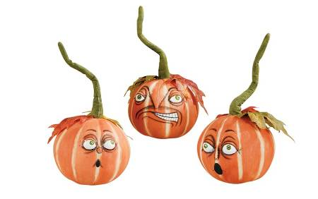 Fabric Pumpkin Heads set of Three_LARGE