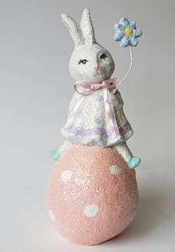 Roberta rabbit glittered Easter figure THUMBNAIL