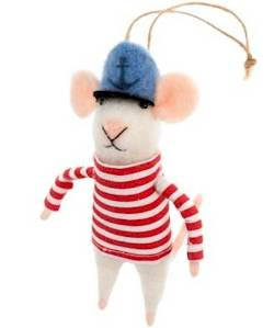 Mouse with sailor Hat Ornament_THUMBNAIL