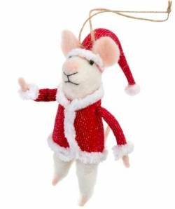 Mouse Figure with Santa Suit