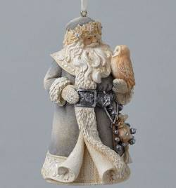Santa with Owl Ornament