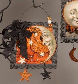 Crescent Moon Postcard Ornament THUMBNAIL