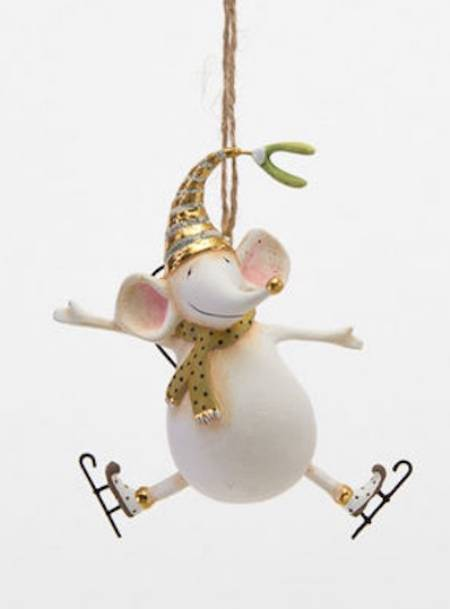 Gold Joyful Mouse Ornament