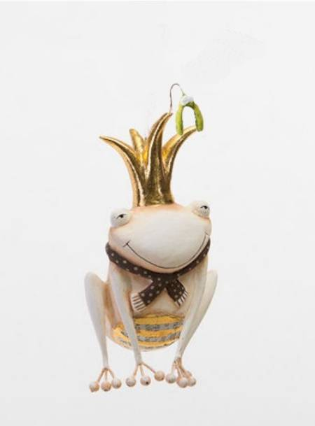 Gold Frog Ornament