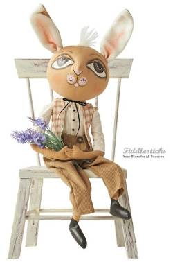 Wilbur Rabbit Boy Doll with Flowers THUMBNAIL