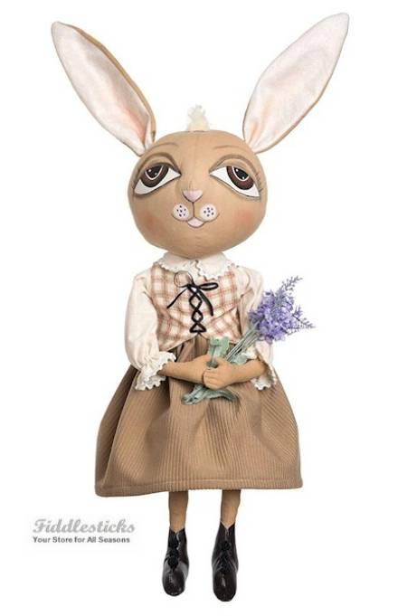 Wilma Rabbit Girl Doll with Flowers LARGE