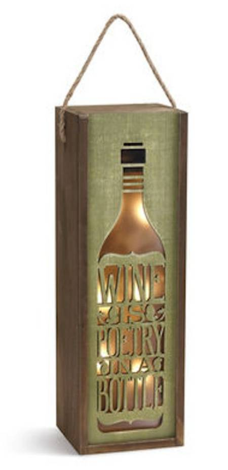 Wine is Poetry Lantern
