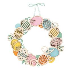 Wooder Laser cut Easter Egg Wreath THUMBNAIL