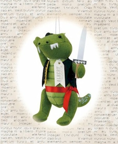 Albert the Alligator Pirate Ornament_LARGE