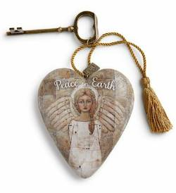 Peace on Earth Angel Art Heart THUMBNAIL