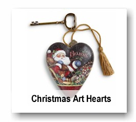 Christmas Art Hearts