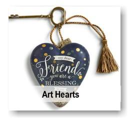 Friend Blessing Art Heart Collectible Gift