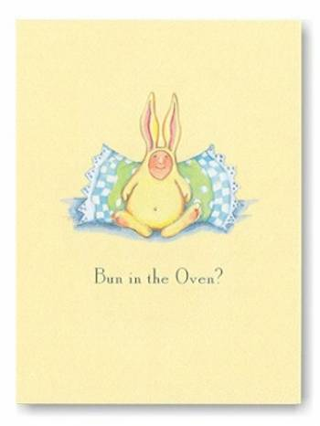 Bun In The Oven Krinkles Greeting Cards