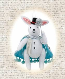 Bernardo the Bunny Magician Ornament THUMBNAIL