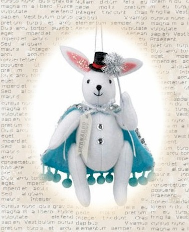 Bernardo the Bunny Magician Ornament