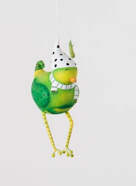 Green Bird Ornament